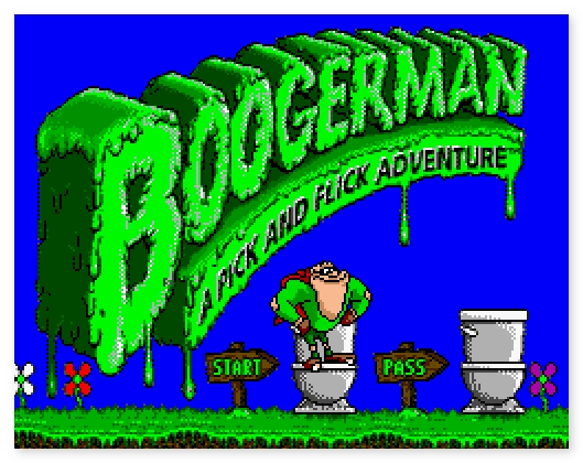 фото Boogerman A Pick and Flick Adventure ретро бродилка Бугемен SEGA Nintendo