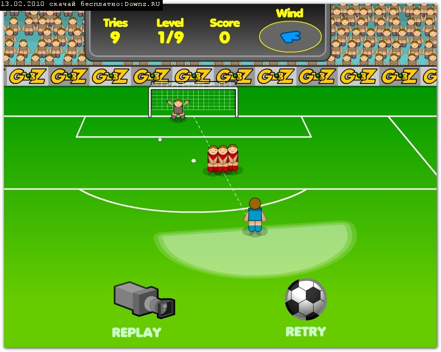 фото Флеш футбол игра пробей пенальти Flash soccer game