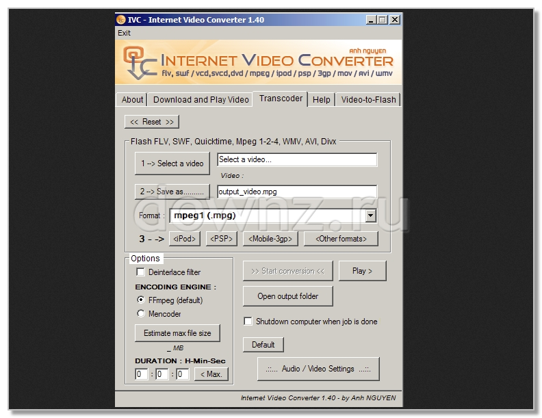 dvd mpeg avi audio converter скачать: