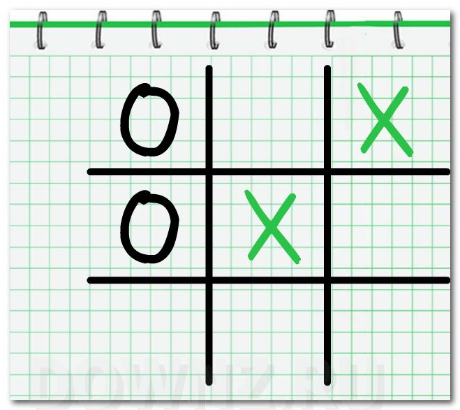 фото Tic tac toe Note Paper Игра в крестики нолики для одного или двух игроков
