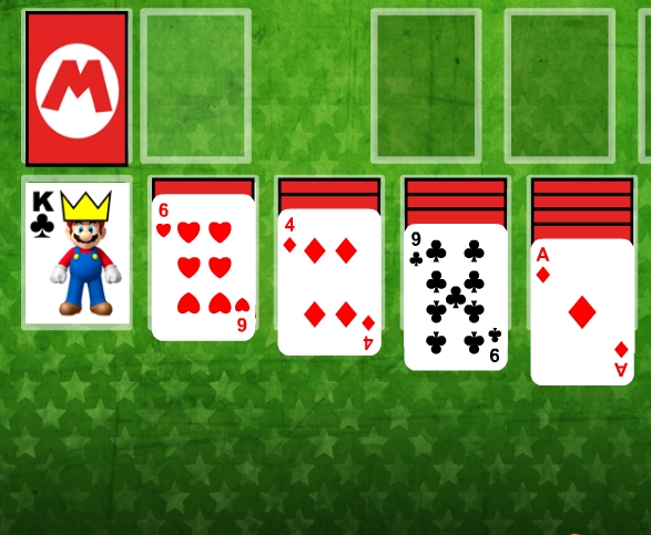 фото Super Mario Solitaire Пасьянс Супер Марио косынка карточная игра логика