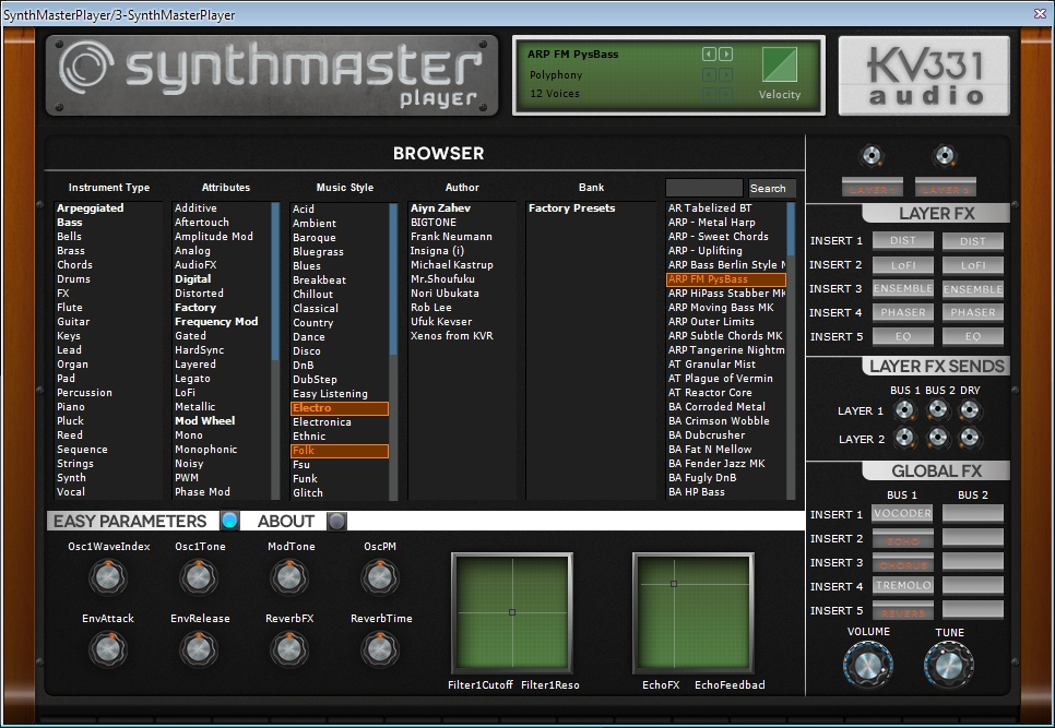 фото Synthmaster Player Free VST плагин набор электронных инструментов и эффектов создания музыки